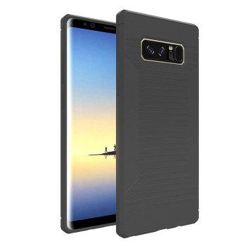 Dustproof Back Cover Solid Color Soft TPU for Samsung Galaxy Note 8 Case - GRAY GRAY