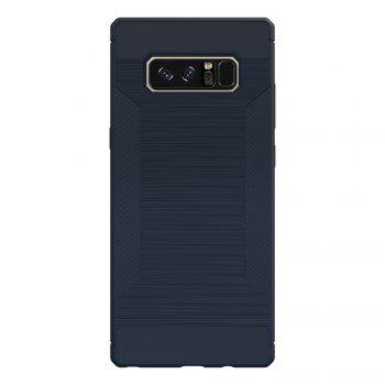 Dustproof Back Cover Case Solid Color Soft TPU for Samsung Galaxy Note 8 -  BLUE