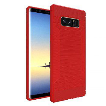 Dustproof Back Cover Case Solid Color Soft TPU for Samsung Galaxy Note 8 - RED RED