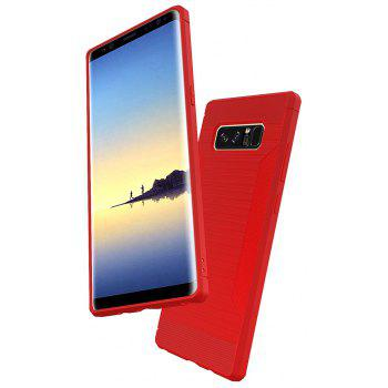 Dustproof Back Cover Case Solid Color Soft TPU for Samsung Galaxy Note 8 - RED