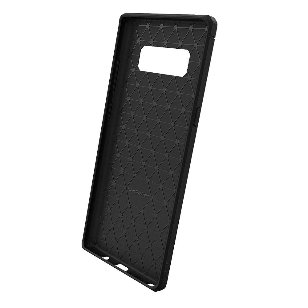 Dustproof Back Cover Case Solid Color Soft TPU for Samsung Galaxy Note 8 - BLACK