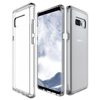 For Samsung Galaxy Note 8 Transparent Back Cover Case Solid Color Hard PC - WHITE WHITE