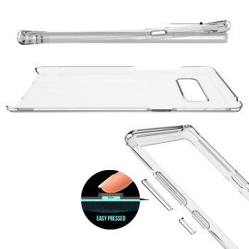 For Samsung Galaxy Note 8 Transparent Back Cover Case Solid Color Hard PC - WHITE
