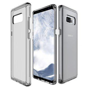 For Samsung Galaxy Note 8 Transparent Back Cover Case Solid Color Hard PC - GRAY GRAY