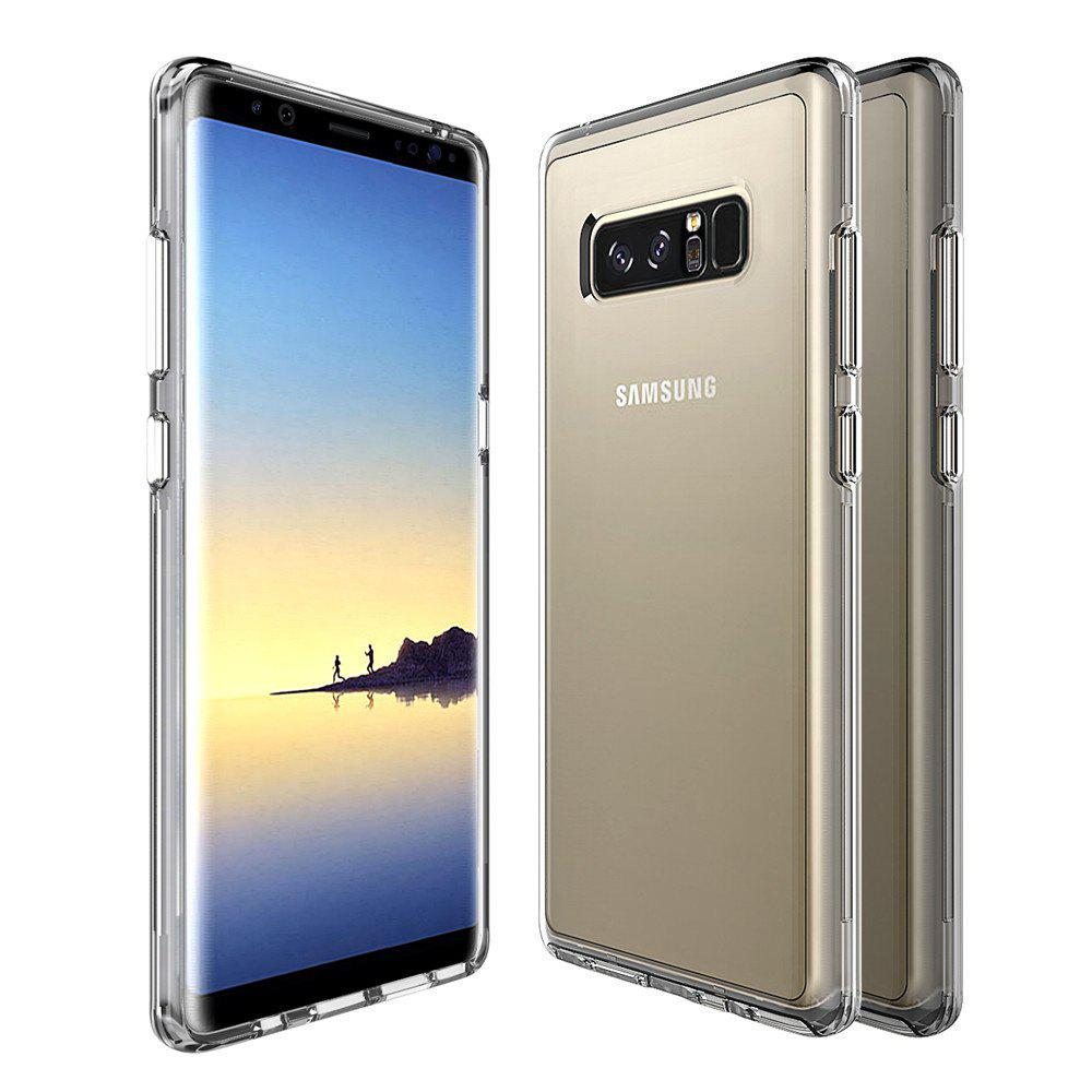 For Samsung Galaxy Note 8 Transparent Back Cover Case Solid Color Hard PC - GRAY