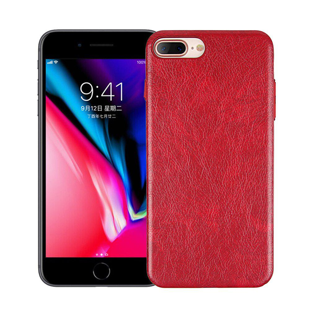 Luxury Dermatoglyph PC Silicone Back Cover Skin for iPhone 8 Plus / 7 Plus Case - RED