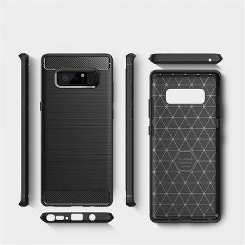 For Samsung Note 8 Frosted Back Cover Case Solid Color Soft TPU -  BLACK