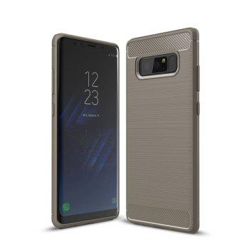 For Samsung Note 8 Frosted Back Cover Case Solid Color Soft TPU - GRAY GRAY