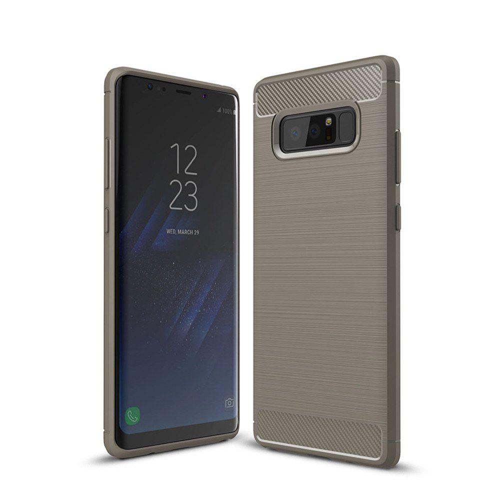For Samsung Note 8 Frosted Back Cover Case Solid Color Soft TPU - GRAY