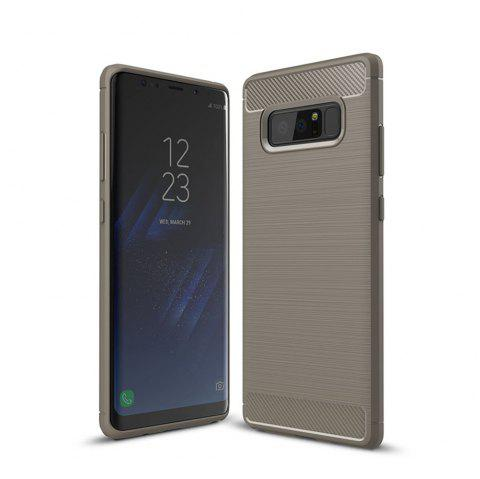 Frosted Back  Case Solid Color Soft TPU for Samsung Note 8 - GRAY