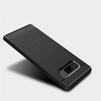 Frosted Back  Case Solid Color Soft TPU for Samsung Note 8 - BLACK BLACK