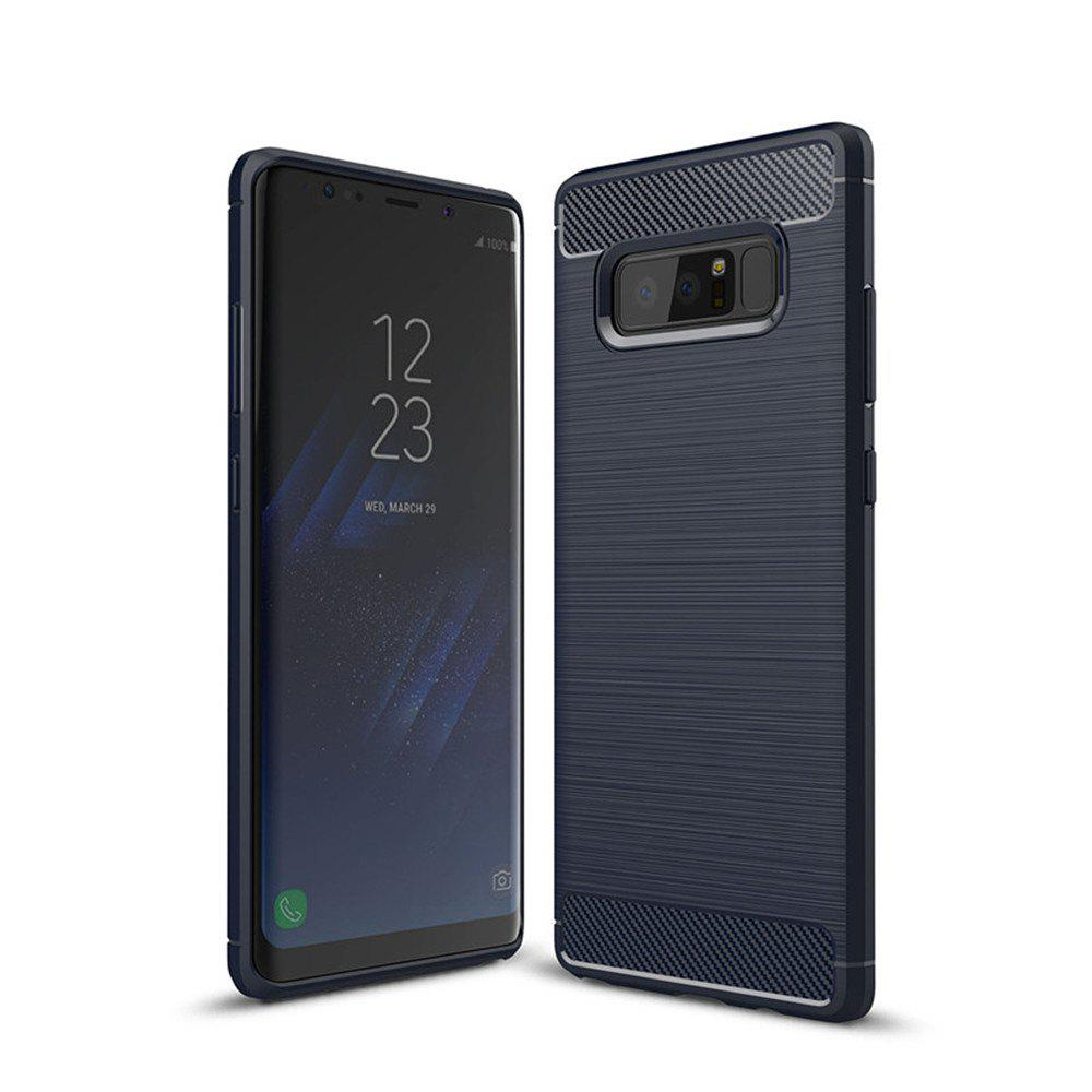 Frosted Back  Case Solid Color Soft TPU for Samsung Note 8 - BLUE