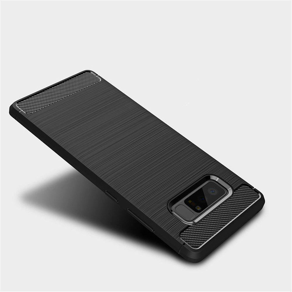 Frosted Back  Case Solid Color Soft TPU for Samsung Note 8 - BLACK