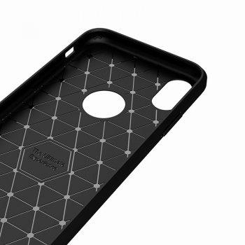 High Quality Good Hand Feeling Wire Drawing Case TPU Soft Back Cover for iPhone X - BLACK
