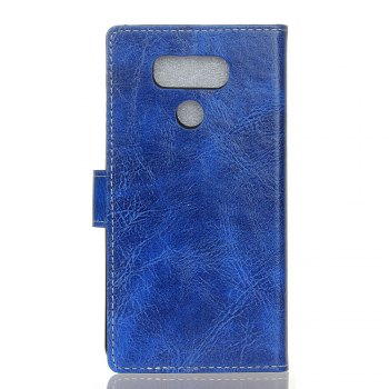 Genuine Quality Retro Style Crazy Horse Pattern Flip PU Leather Wallet Case for LG G6 - BLUE