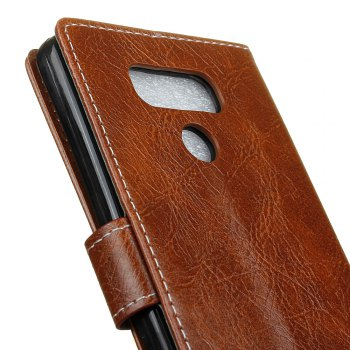 Genuine Quality Retro Style Crazy Horse Pattern Flip PU Leather Wallet Case for LG G6 - BROWN