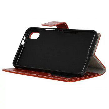 Genuine Quality Retro Style Crazy Horse Pattern Flip PU Leather Wallet Case for BQ X5 - RED