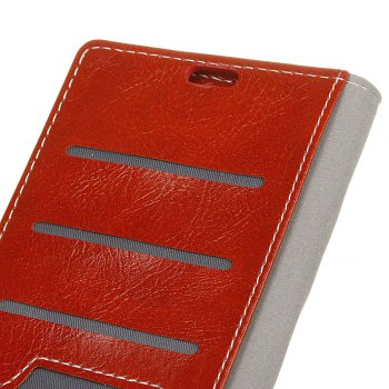 Genuine Quality Retro Style Crazy Horse Pattern Flip PU Leather Wallet Case for Samsung A7 2018 -  RED