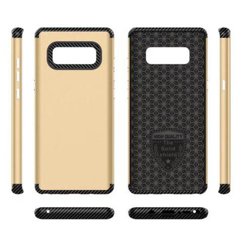 Luxury Shockproof Back Cover Carbon Fiber TPU + PC Protective for  Samsung Galaxy Note 8 - GOLDEN