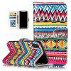 Tribal Tattoos Pattern Flip Cover Holster PU Leather wallet Card Slots Holder Protection Mobile Phone Bag Case For iPhone X - COLORFUL FOR IPHONE X