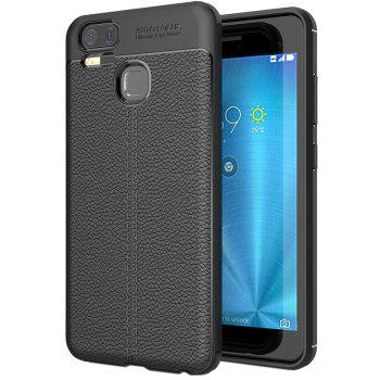 ASLING Lichee Skin Anti-drop Cover Case for ASUS Zenfone 3 Zoom (ZE553KL) - BLACK BLACK