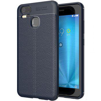ASLING Lichee Skin Anti-drop Cover Case for ASUS Zenfone 3 Zoom (ZE553KL) - CADETBLUE CADETBLUE