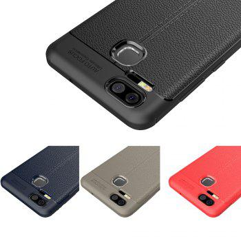 ASLING Lichee Skin Anti-drop Cover Case for ASUS Zenfone 3 Zoom (ZE553KL) -  RED