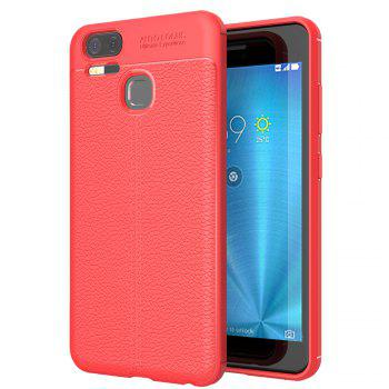 ASLING Lichee Skin Anti-drop Cover Case for ASUS Zenfone 3 Zoom (ZE553KL) - RED RED