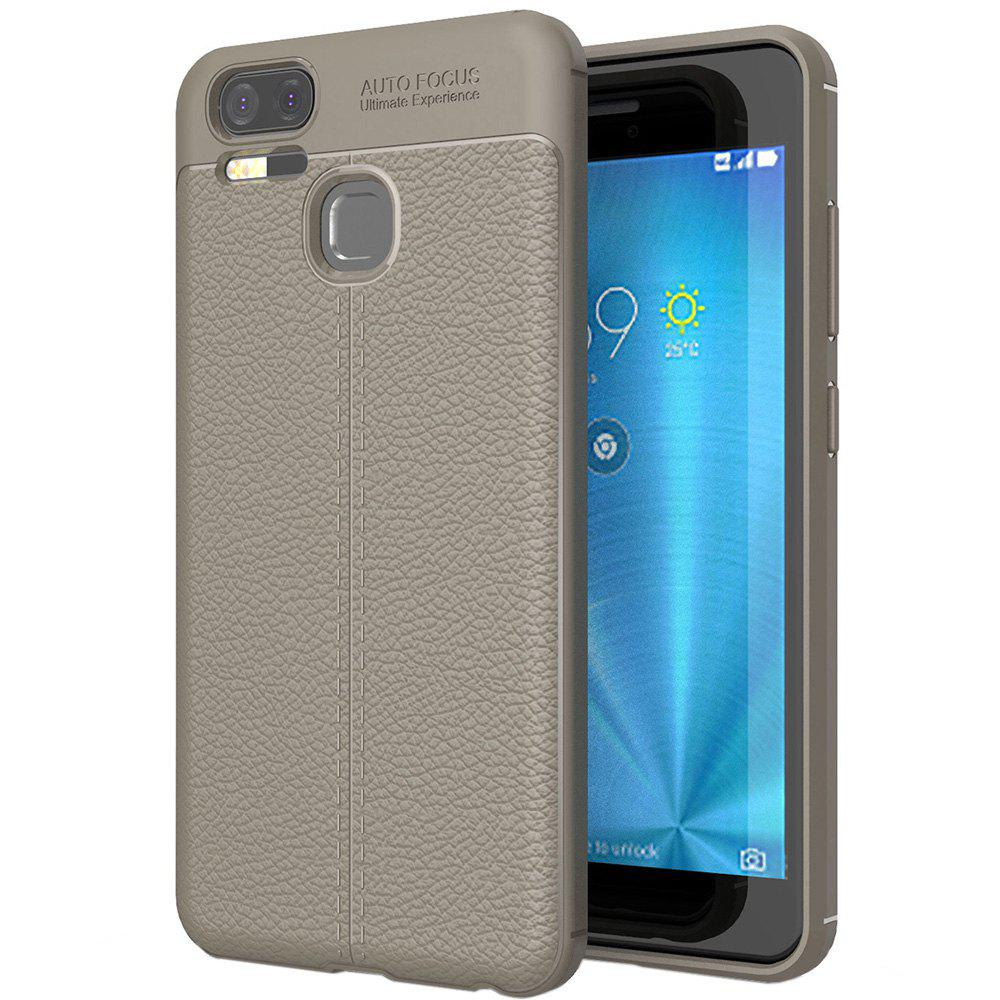 ASLING Lichee Skin Anti-drop Cover Case for ASUS Zenfone 3 Zoom (ZE553KL) - GRAY