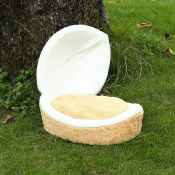 Detachable Windproof Comfortable Hiding Burger Style Bed for Pet Cat - YELLOW
