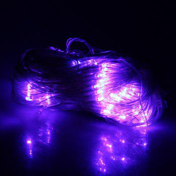 200 LEDs Purple Net Fairy Light Christmas Party Wedding Decoration - WHITE WHITE