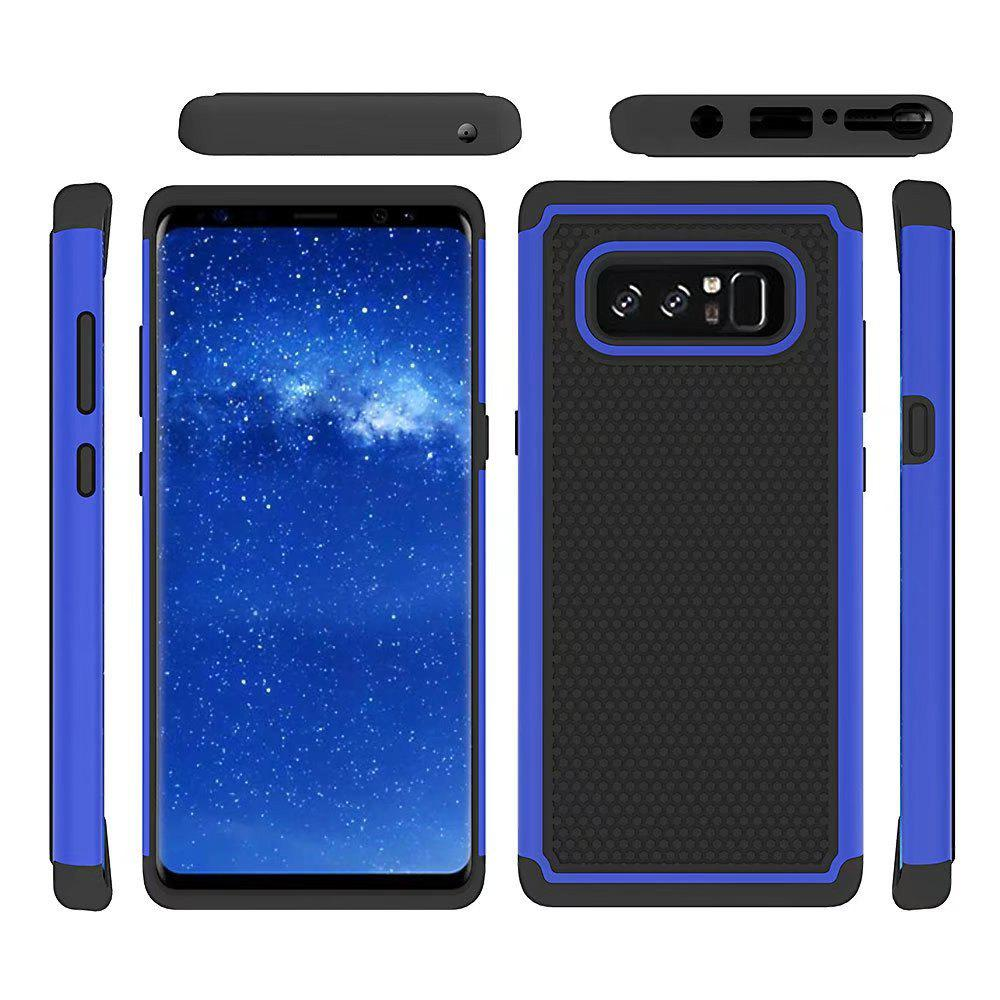 2 in 1 Ball Pattern Tough Protective Case Cover Skin for Samsung Galaxy Note8 - BLUE