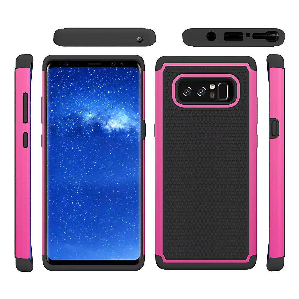 2 in 1 Ball Pattern Tough Protective Case Cover Skin for Samsung Galaxy Note8 - ROSE RED