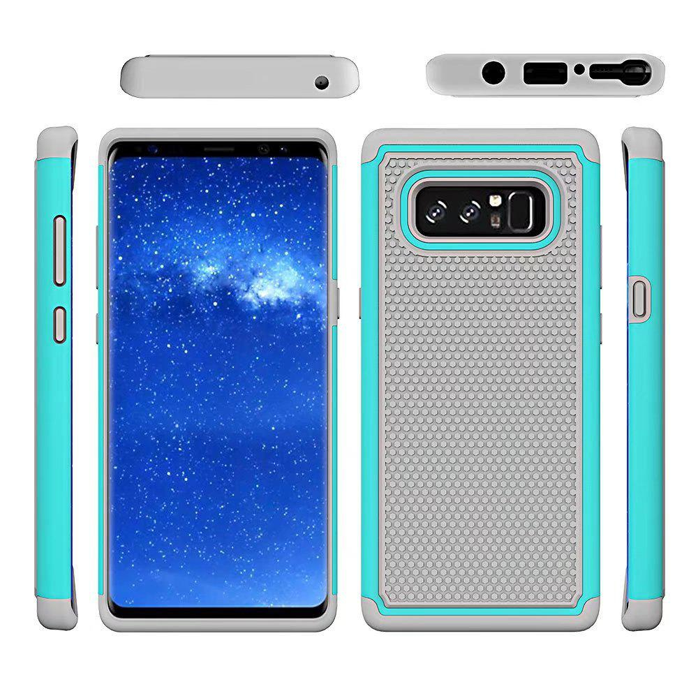 2 in 1 Ball Pattern Tough Protective Case Cover Skin for Samsung Galaxy Note8 - WINDSOR BLUE