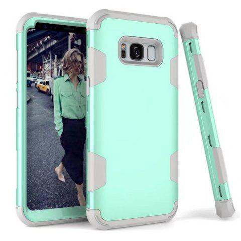 Case New Perfect 3 in 1 Shockproof Hybrid Heavy Duty High Impact Hard Plastic +Soft Silicon Rubber Armor Defender Case Cover for Samsung Galaxy S8 Plus 2017 - BLUE