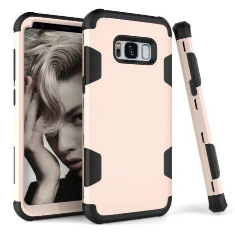 3 in 1 Shockproof Hybrid Heavy Duty High Impact Hard Plastic + Soft Silicon Rubber Armor Defender Protective Case Cover for Samsung Galaxy S8 - GOLDEN