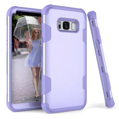 3 in 1 Shockproof Hybrid Heavy Duty High Impact Hard Plastic + Soft Silicon Rubber Armor Defender Protective Case Cover for Samsung Galaxy S8 - PURPLE