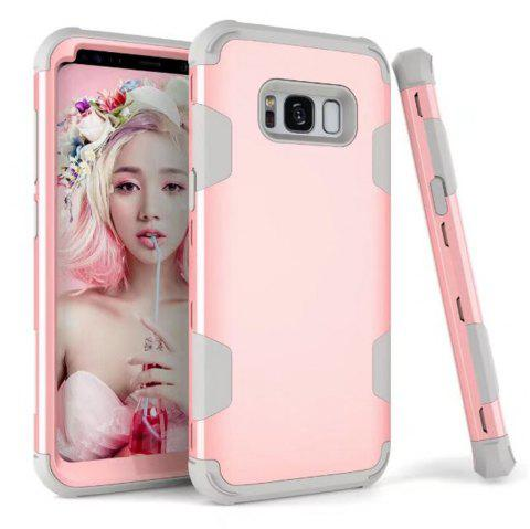 3 in 1 Shockproof Hybrid Heavy Duty High Impact Hard Plastic + Soft Silicon Rubber Armor Defender Protective Case Cover for Samsung Galaxy S8 - PINK/GREY