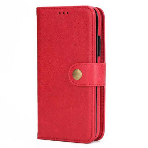 Card Holder Onetop Premium PU Leather Kickstand Card Slots Case Double Magnetic Clasp and Durable Shockproof for iPhone X Wallet Cover - RED