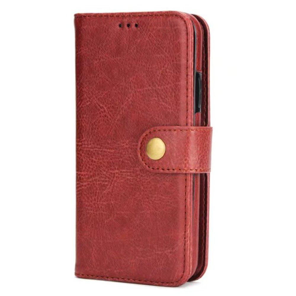 Card Holder Onetop Premium PU Leather Kickstand Card Slots Case Double Magnetic Clasp and Durable Shockproof for iPhone X Wallet Cover - BROWN