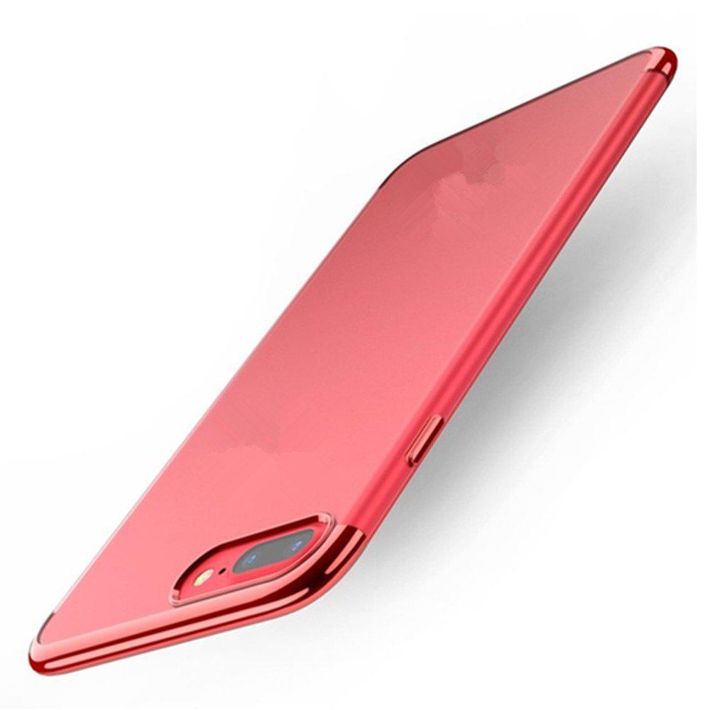 Clear Soft Silicone TPU Skin Phone Case Cover for iPhone 7 Plus /  8 Plus - RED