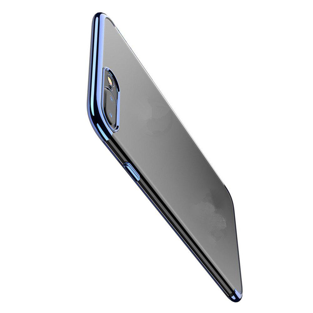 Clear Soft Silicone TPU Skin Phone Case Cover for iPhone 7 Plus /  8 Plus - DEEP BLUE
