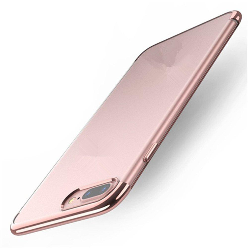 Clear Soft Silicone TPU Skin Phone Case Cover for iPhone 7 Plus /  8 Plus - ROSE GOLD