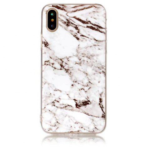 Marble Pattern Slim Shockproof Flexible Soft TPU Rubber Silicone Skin Cover for iPhone X - WHITE