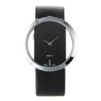 Trendy Hollow Silicone Band Women Watch - BLACK BLACK