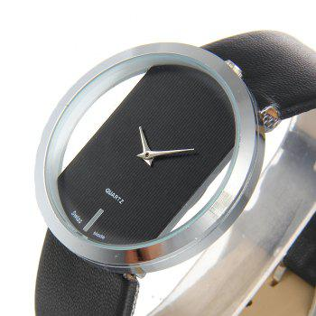 Trendy Hollow Silicone Band Women Watch - BLACK
