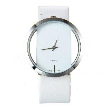 Trendy Hollow Silicone Band Women Watch - WHITE WHITE