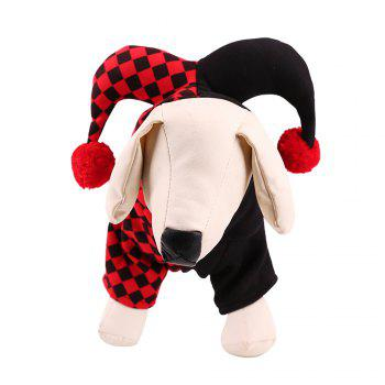 Lovoyager A77 Halloween Dogs Clothes Decorated with Horns - RED RED