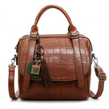 Autumn and Winter New Lady Handbag Fashion Casual Shoulder Messenger Bag - BROWN BROWN