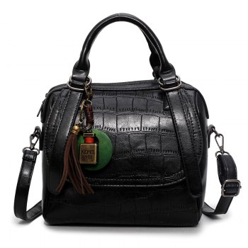 Autumn and Winter New Lady Handbag Fashion Casual Shoulder Messenger Bag - BLACK BLACK